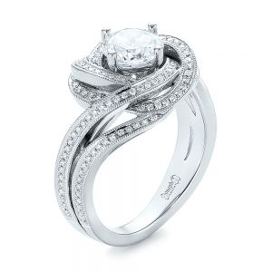 Knot Diamond Engagement Ring - Image