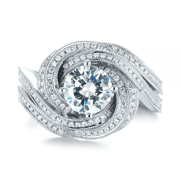 Engagement Rings Knot: Knot Diamond Engagement Ring #104115