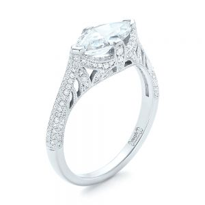 Marquise Diamond Engagement Ring - Image