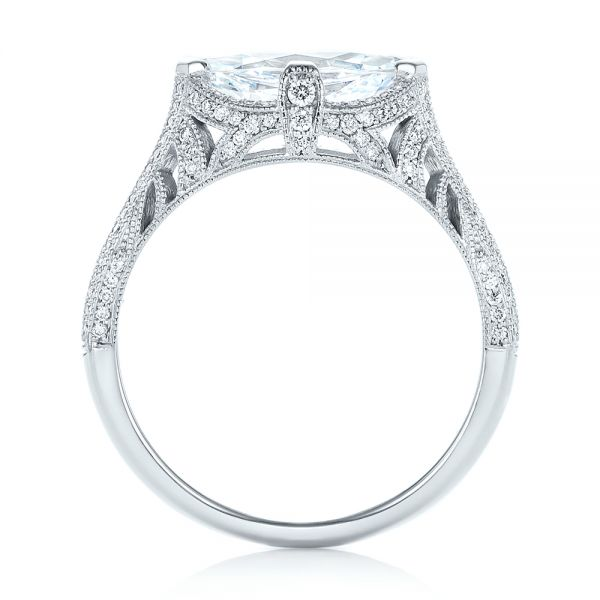 Marquise Diamond Engagement Ring - Front View -  102769 - Thumbnail