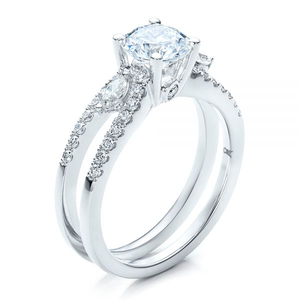Marquise Diamond Engagement Ring with Eternity Band