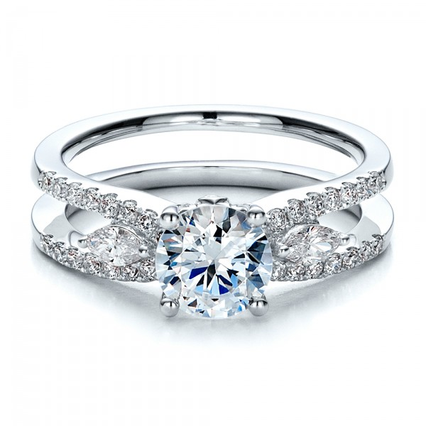 Marquise Diamond Engagement Ring with Eternity Band 100003