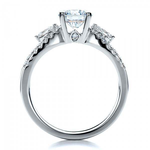 marquise engagement ring with eternity band 100003