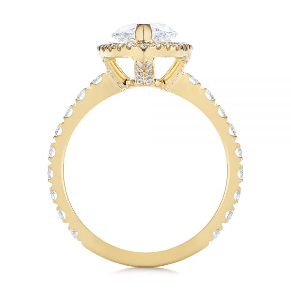 Marquise Diamond Halo Engagement Ring - Front View -  105189 - Thumbnail