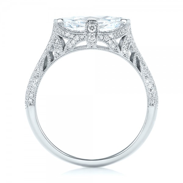 Marquise Diamond Engagement Ring - Finger Through View