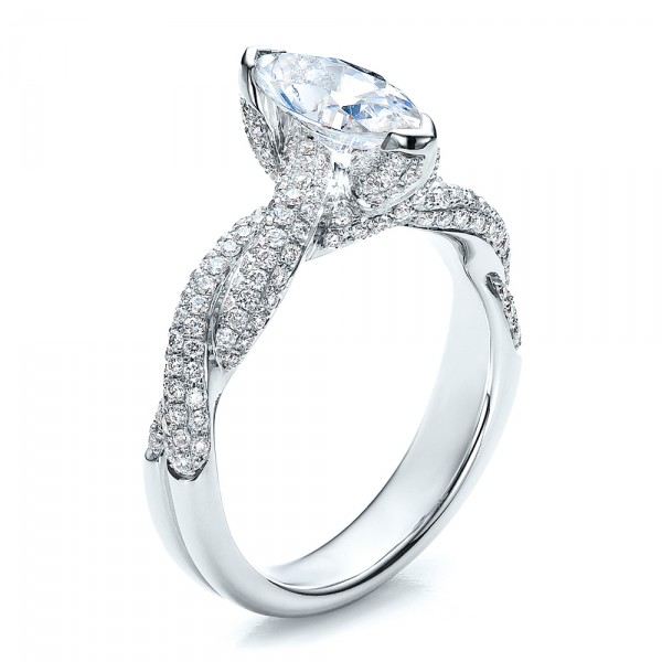 Marquise Engagement Ring - Vanna K