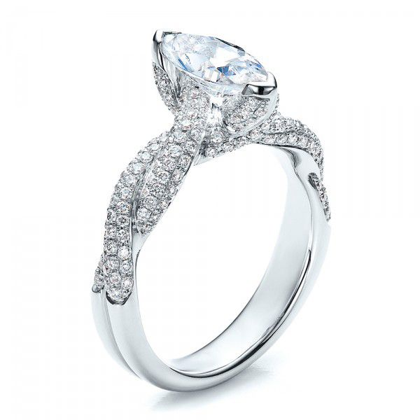 Marquise Engagement Ring - Vanna K - Image