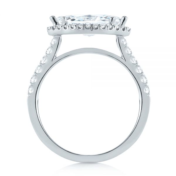 Marquise Halo Diamond Engagement Ring - Front View -  104001 - Thumbnail