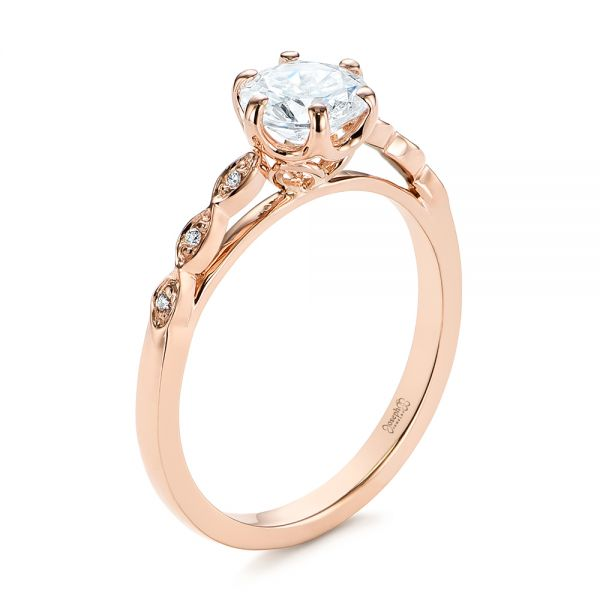 Marquise Shaped Classic Diamond Engagement Ring - Image