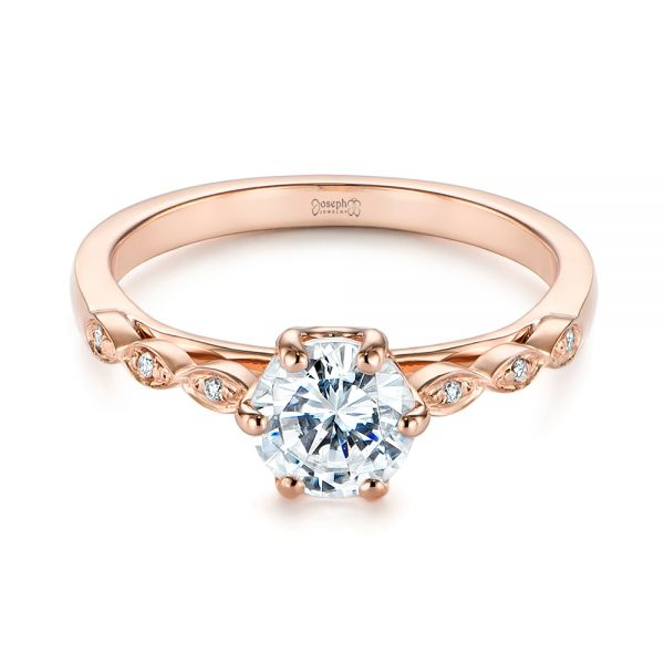 Marquise Shaped Classic Diamond Engagement Ring - Flat View -  105182 - Thumbnail