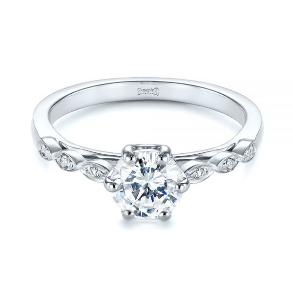 Marquise Shaped Classic Diamond Engagement Ring