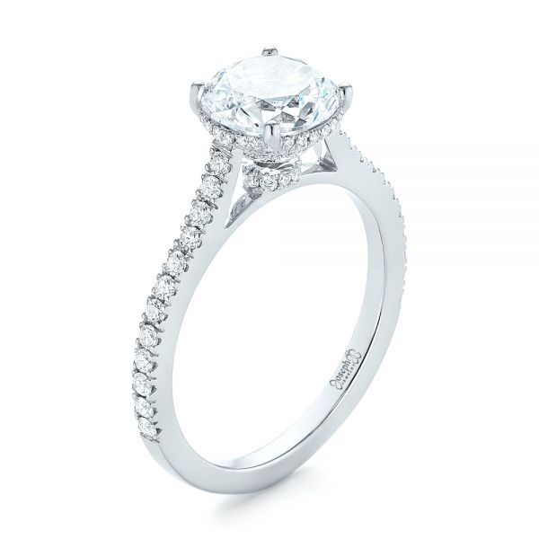 Micro Pave Diamond Engagement Ring
