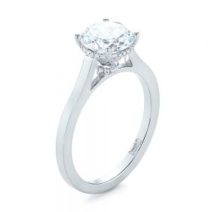 Micro Pave Diamond Engagement Ring - Image