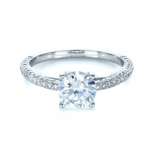 Micro-Pave Diamond Engagement Ring