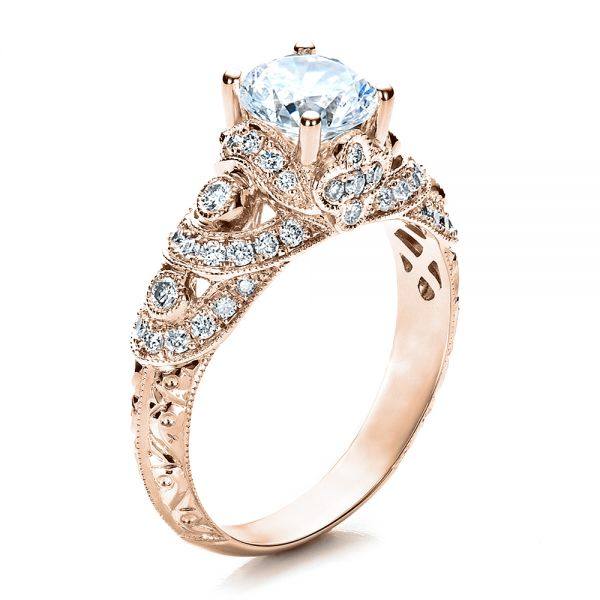 Micropave Diamond Engagement Ring - Vanna K - Image
