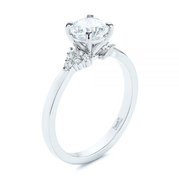 Minimalist Cluster Diamond Engagement Ring - Image