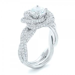 modern knot edgeless pav engagement ring - Wwwwedding Rings