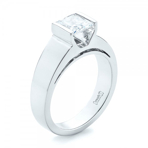 Modern Solitaire Diamond Engagement Ring