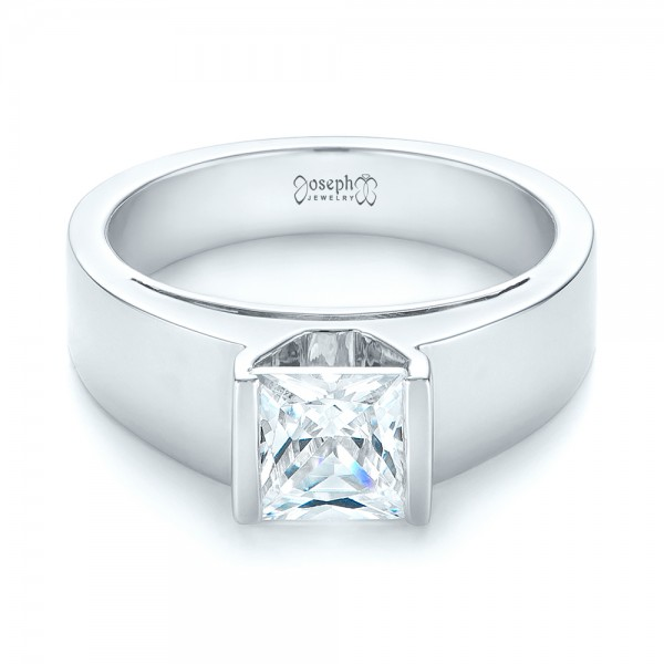 Modern Solitaire Diamond Engagement Ring - Laying View