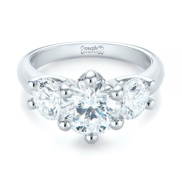 Modern Three Stone Diamond Engagement Ring