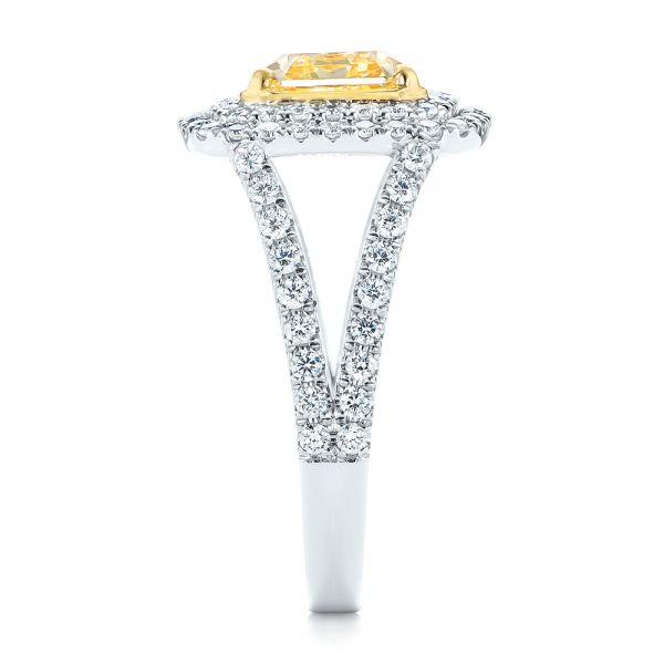 Natural Yellow Diamond Engagement Ring 103158 Seattle