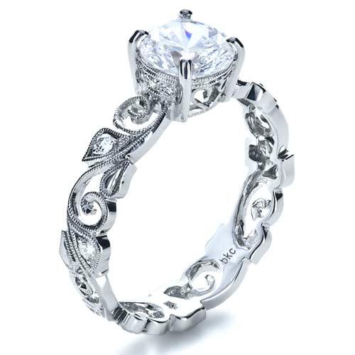 Organic Diamond Engagement Ring