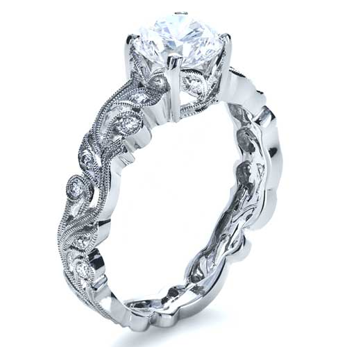Organic Diamond Engagement Ring