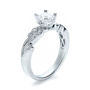 Organic Diamond Engagement Ring - Kirk Kara - Image