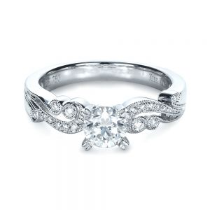 Organic Diamond Engagement Ring - Kirk Kara