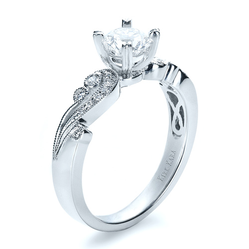 Organic Diamond Engagement Ring - Kirk Kara
