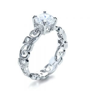Organic Diamond Engagement Ring - Image