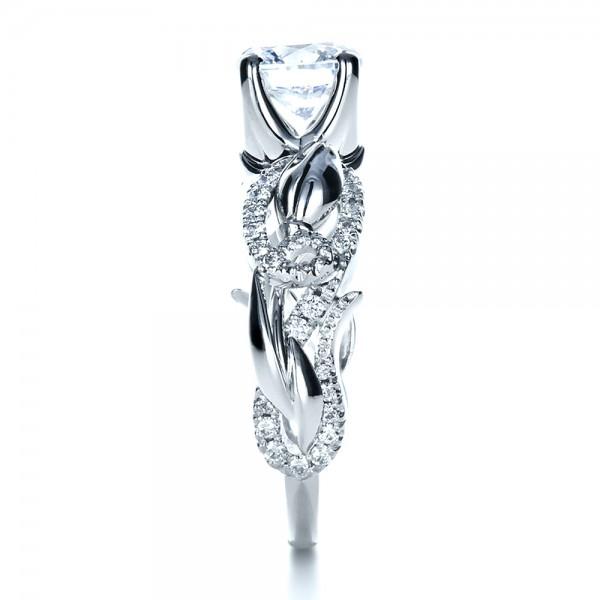 Organic Diamond Engagement Ring - Side View