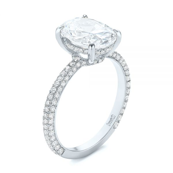 Oval Diamond Engagement Ring - Image