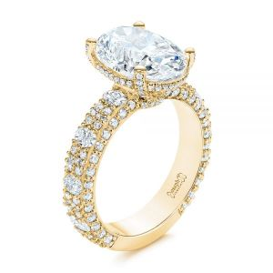 Oval Pave Diamond Engagement Ring - Image
