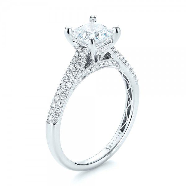 Pavé Diamond Engagement Ring - Image