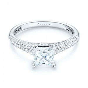Pavé Diamond Engagement Ring