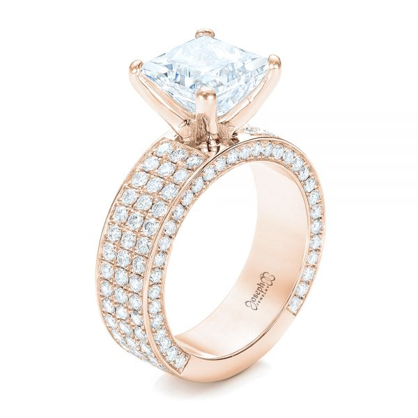 80c403b125a32 Pave Diamond Engagement Ring