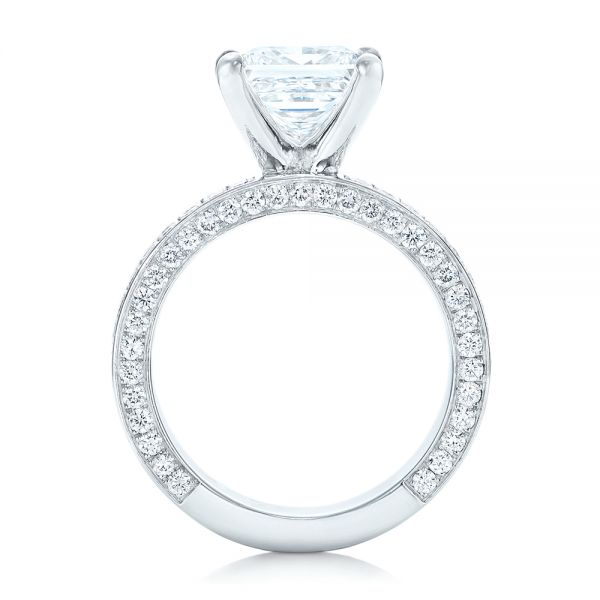 Pave Diamond Engagement Ring - Front View -  102017 - Thumbnail