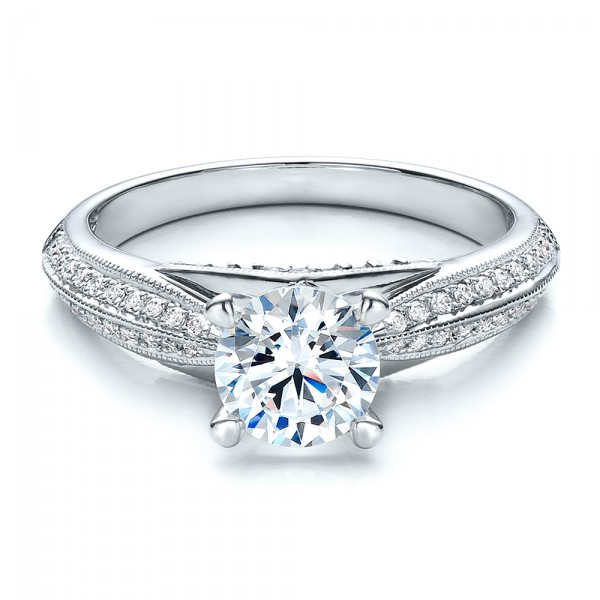 Pave Engagement Ring - Vanna K
