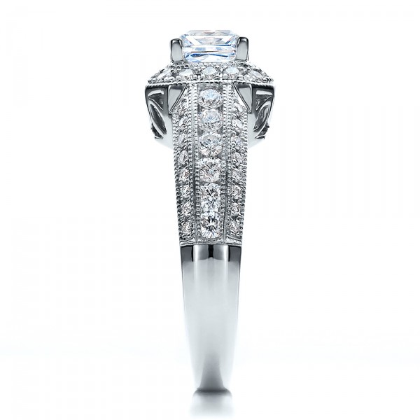 Pave Engagement Ring - Vanna K - Side View