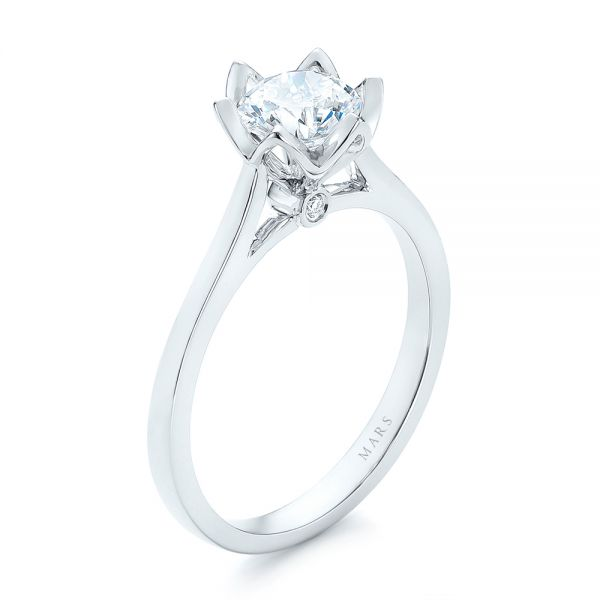Peekaboo Diamond Solitaire Engagement Ring - Image