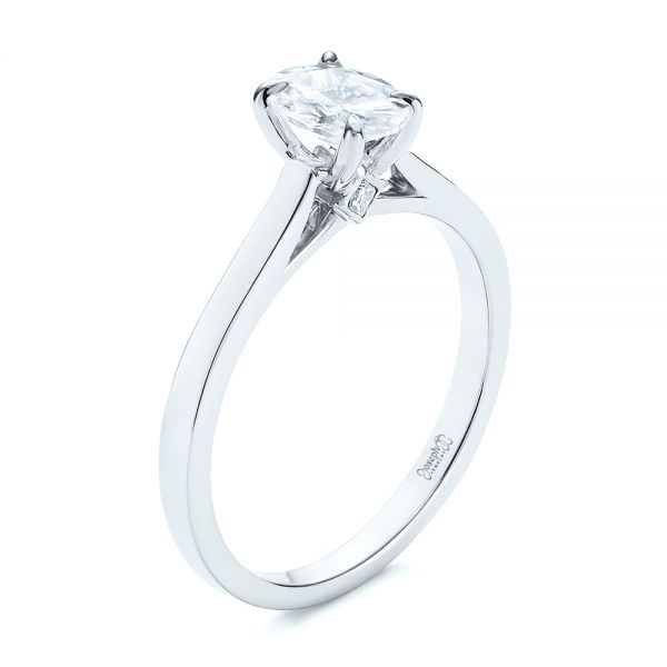 Peekaboo Oval Diamond Engagement Ring - Image