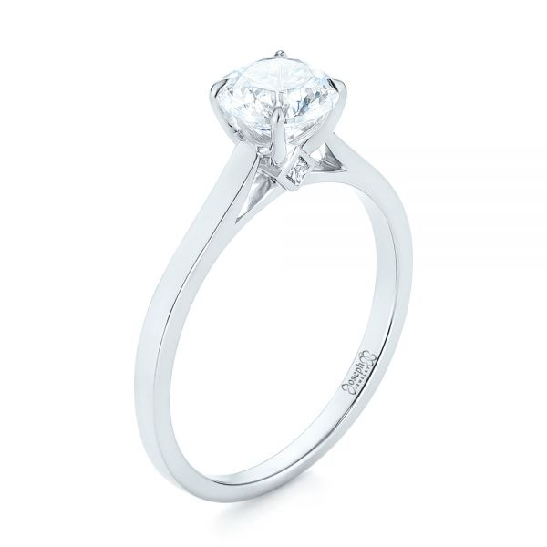 Peekaboo Princess Cut Diamond Engagement Ring - Image