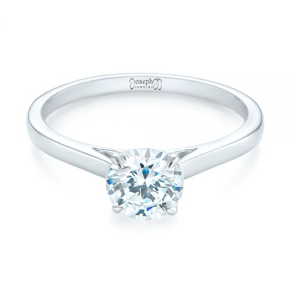 Peekaboo Princess Cut Diamond Engagement Ring
