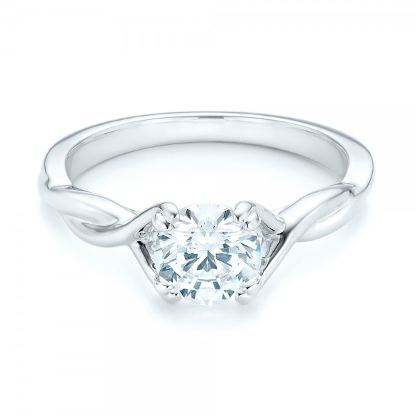 Petite Twist Solitaire Engagement Ring