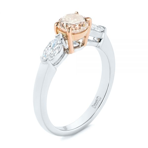 Pink Diamond Engagement Ring - Image