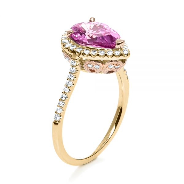 8a0d44c72427c 14k Yellow Gold And 14K Gold Pink Sapphire And Diamond Two-tone ...