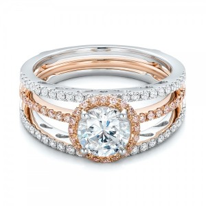 Pink and White Diamond Bridal Set