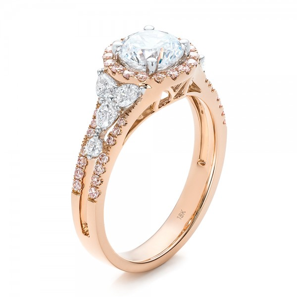 ebay white s certified diamond rings engagement gold halo pink in itm round ring