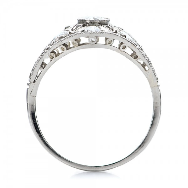 Estate Art Deco Diamond Engagement Ring - Finger Through View